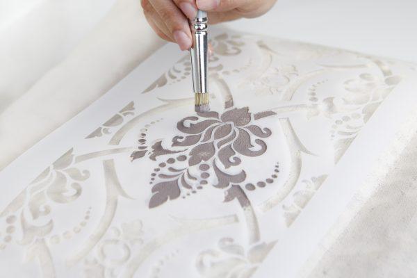 Stencil fleur